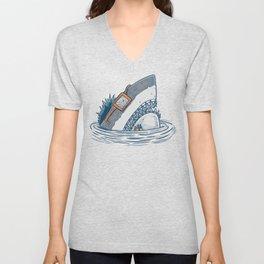 The Nerd Shark Unisex V-Neck
