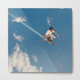 Sky Skater - Skateboarding Metal Print