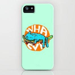 WHAEVR ~ Skateboarding Kitty Cat Naps iPhone Case