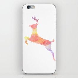Watercolor Splash Deer iPhone Skin