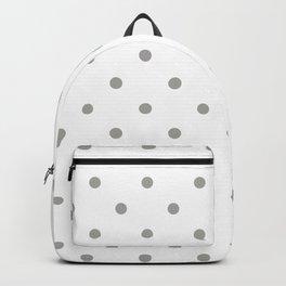 Polka Dots Pattern: Grey Backpack