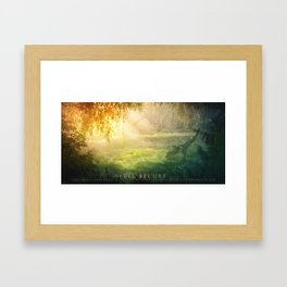 Feel Secure Framed Art Print