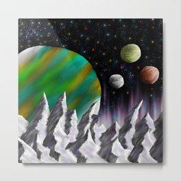 Planetscape Metal Print