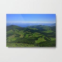 Green coastal landscape Metal Print