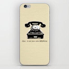 Ceci N'est Pas Une Téléphone. iPhone Skin