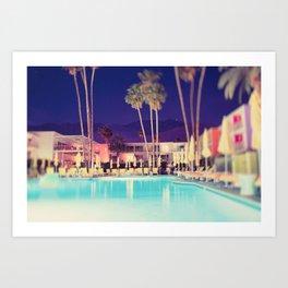 Palm Springs Hotel Art Print