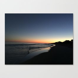 Main Beach Sunset Canvas Print