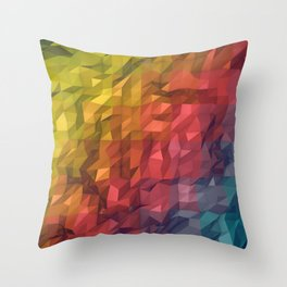 Poly Colours  Throw Pillow