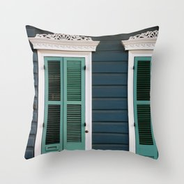 New Orleans Creole Cottage Throw Pillow