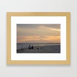 Sunset Over Mt. Olympus Framed Art Print