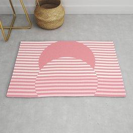 Pink Optical Illusion - Abstract Minimalism Rug