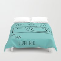 camera Duvet Covers featuring Camera by MeganAnn