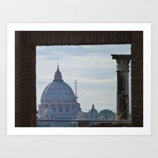 Saint Peter's Basilica framed by Domus Augustea Art Print