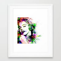 marylin monroe Framed Art Prints featuring Monroe. by David
