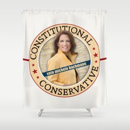 Constitutional Conservative Michele Bachmann Shower Curtain