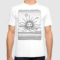 Landscape White Mens Fitted Tee SMALL