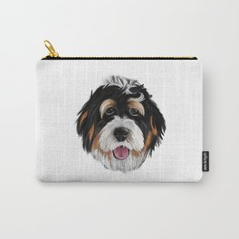 Bernedoodle Dog Face Carry-All Pouch