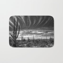 The Desert in Black and White Bath Mat
