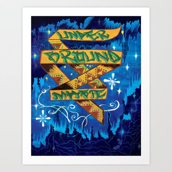 Underground Magic Art Print