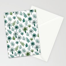 Tropical palm leaves minimal summer pattern print design by andrea lauren Stationery Cards