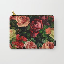 Vintage & Shabby chic - floral roses flowers rose Carry-All Pouch