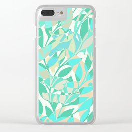Turqoise bloom Clear iPhone Case