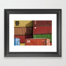 Pointe St. Charles Shipping Containers Framed Art Print