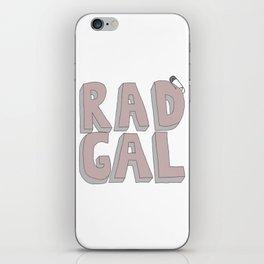 Rad Gal iPhone Skin