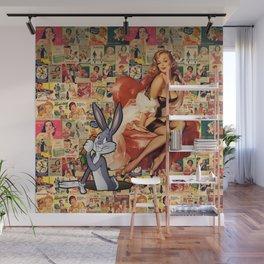 Retro Ads Wall Mural