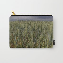 Unripe Wheat Field and Poppy Carry-All Pouch