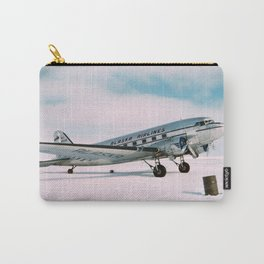 Vintage aviation photograph Alaska Airlines airplane air plane classic pilot flight travel photo Carry-All Pouch