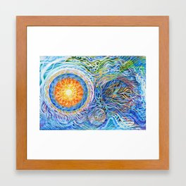 Cells Interacting Framed Art Print