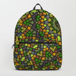 Ethnic round ornament Backpack