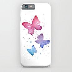 Butterflies Watercolor Abstract Splatters Slim Case iPhone 6s