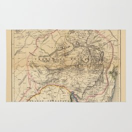 Map Of South Africa 1875 Rug