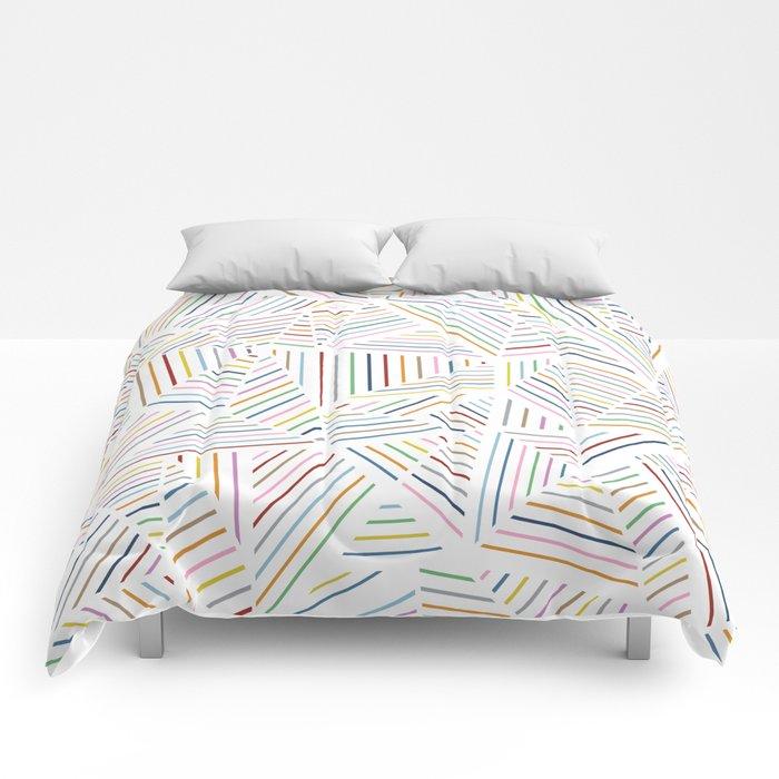 Ab Linear Rainbowz Comforters