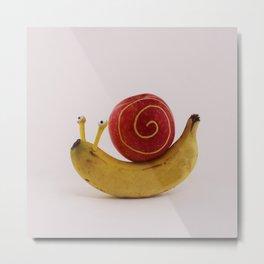 Snail fruit Metal Print