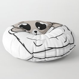 Cute Gray Pocket Cat Floor Pillow