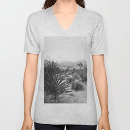The Place to be in Joshua Tree Unisex V-Neck