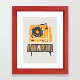 Vinyl Deck Framed Art Print