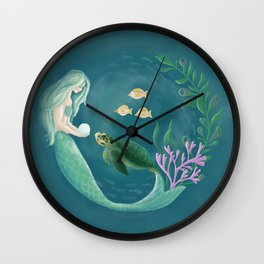 Mermaid's Gift Wall Clock