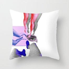 Nastya Walker. I keep walking Throw Pillow