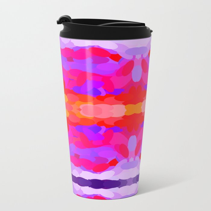 Purple, pink and orange tie dye Travel Mug