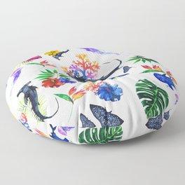 tropical shark pattern Floor Pillow