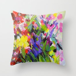 Garden Melody Throw Pillow
