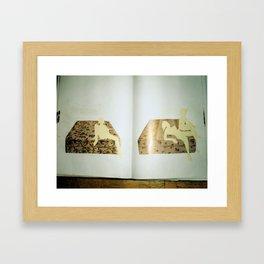 old sketchbook photo Framed Art Print