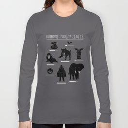 Vampire Threat Levels Long Sleeve T-shirt