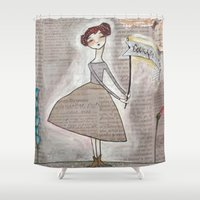 courage Shower Curtains featuring Courage by House of Beck