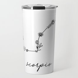 Scorpio Floral Zodiac Constellation Travel Mug
