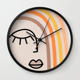 Rainbow State of Mind - earthy Wall Clock